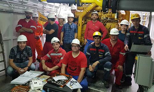 Entrenamiento técnico para personal de sala de máquinas - Motores Caterpillar 3500C