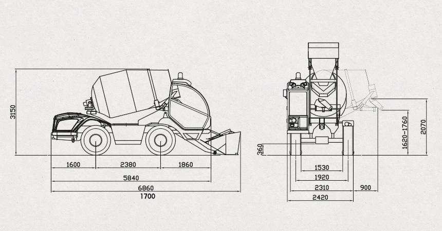 Diagrama del producto CARMIX 3500 TC