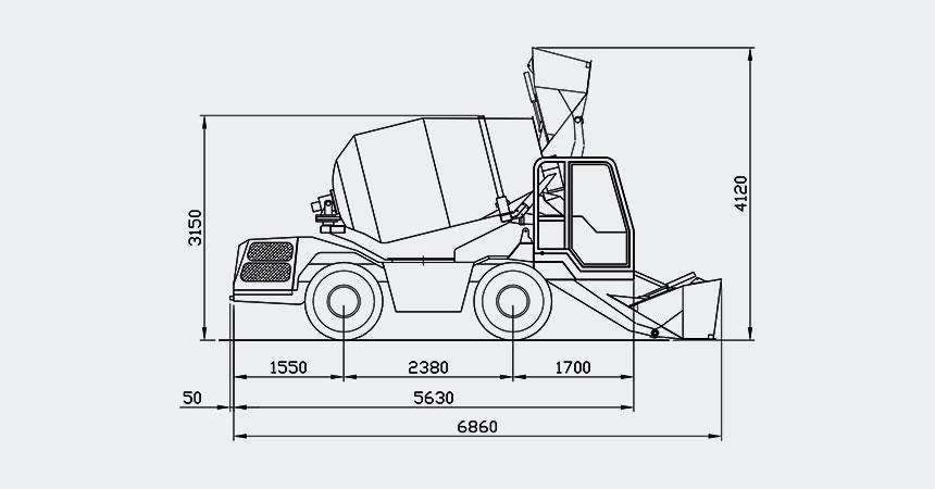 Diagrama del producto CARMIX 3.5 TT